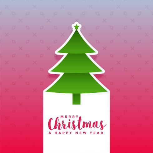 creative christmas tree design background