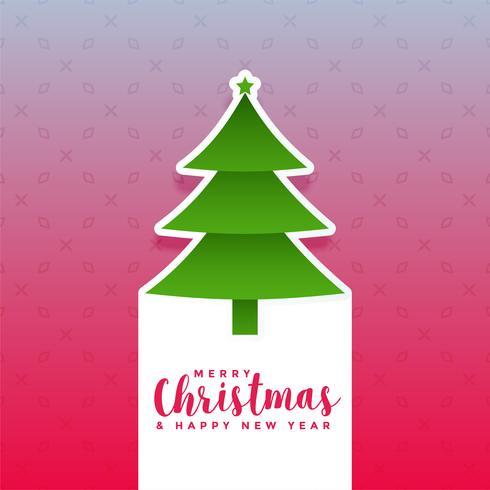 kreativer Weihnachtsbaum-Designhintergrund