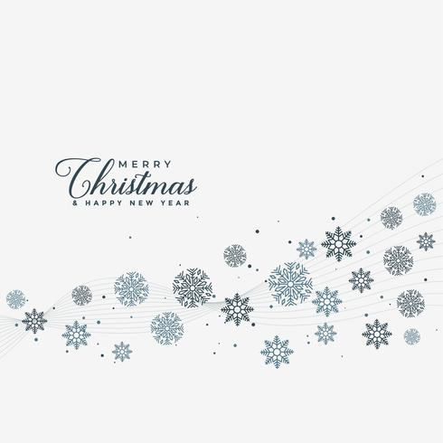 merry christmas snowflakes design background