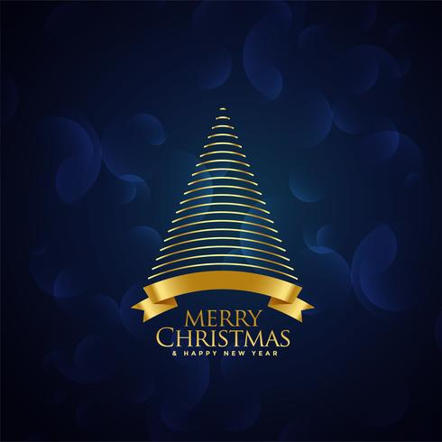 creative christmas golden tree design background
