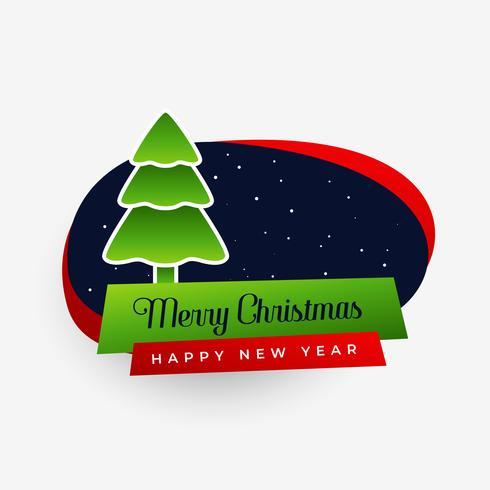 fröhlicher Weihnachtsbaum-Aufkleberentwurf