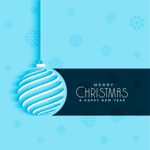 boule de Noël minimal design fond bleu