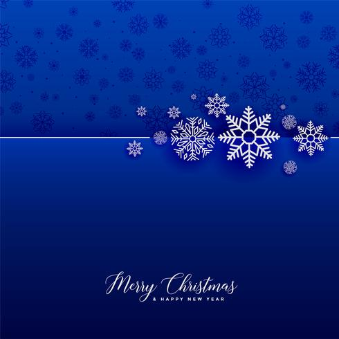 awesome blue snowflakes christmas background