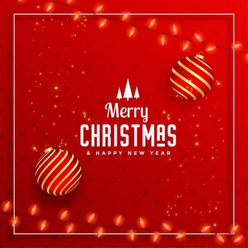 beautiful merry christmas decorative festival greeting