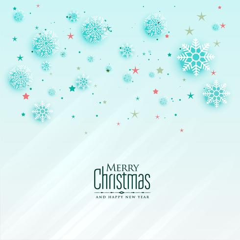 beautiful christmas snowflakes greeting card design