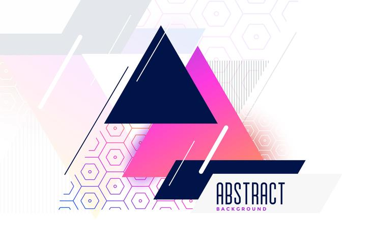 abstract vibrant memphis triangle background