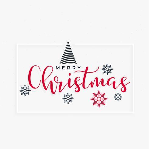 merry chistmas minimal greeting design