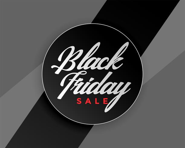 conception de bannière élégante vente vendredi noir