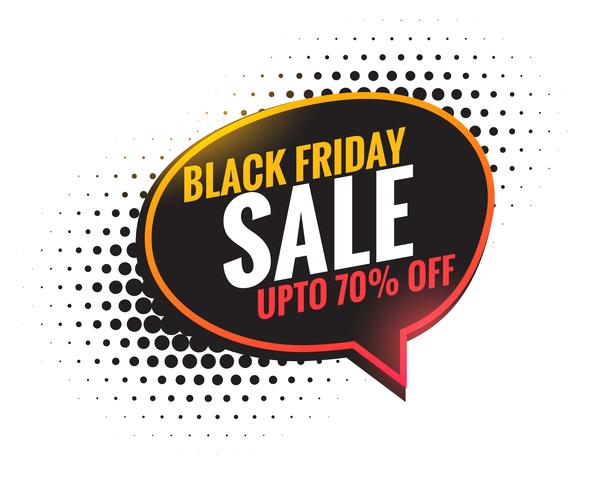 black friday sale chat bubble background