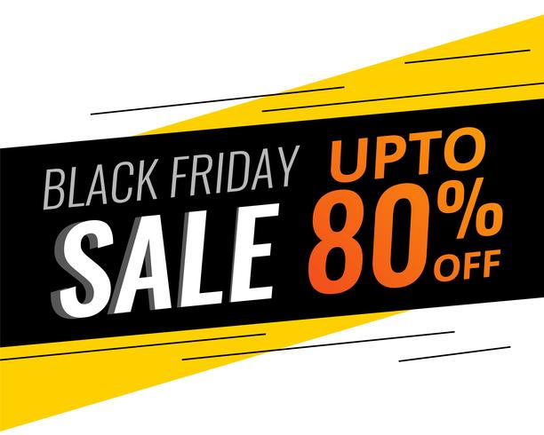 abstrakter moderner schwarzer Freitag-Rabatt und Verkauf bannner