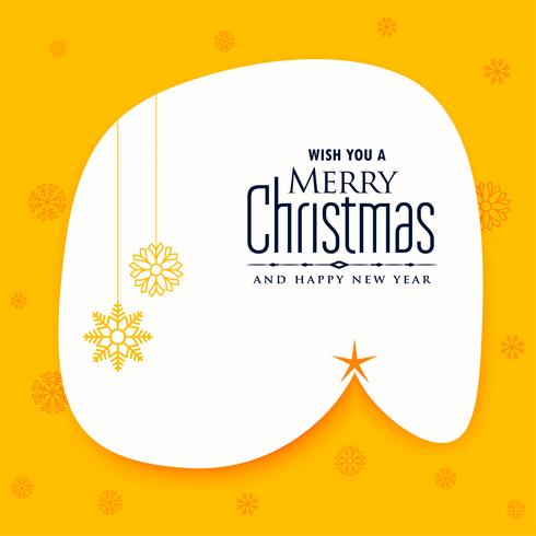 creative merry christmas poster design background
