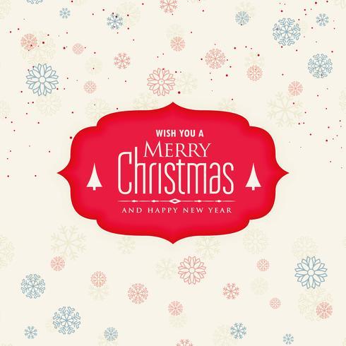 creatieve merry christmas sneeuwvlokken achtergrond
