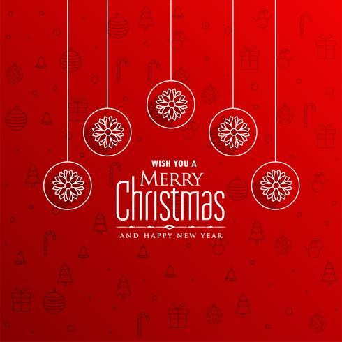 merry christmas red awesome greeting design