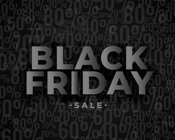 verkoop banner ontwerp voor zwarte vrijdag