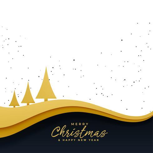 elegante árbol de navidad de oro hermoso fondo