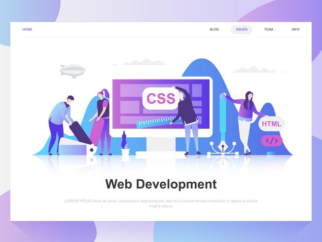 Web development modern flat design concept