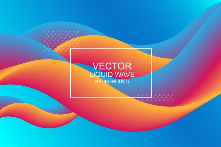 Liquid wave backgrounds vector