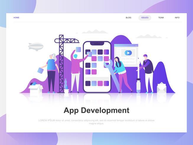 Modello Web del team di sviluppo app