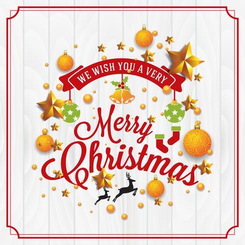 Weihnachten und Happy New Year Illustration mit Typografie und gehen vektor