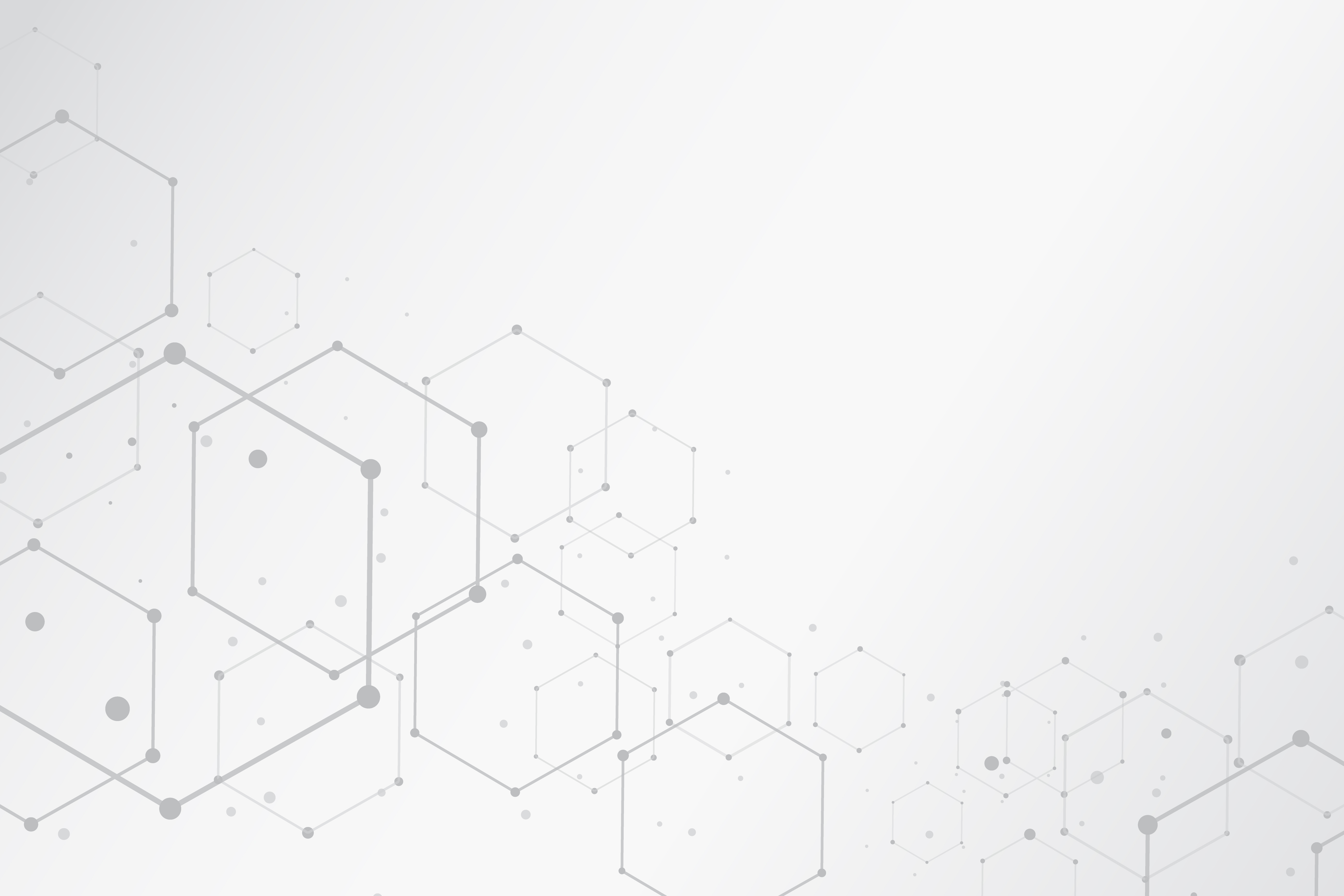 abstract hexagonal molecular structures background with