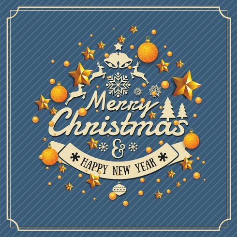 Navidad y feliz año nuevo fondo