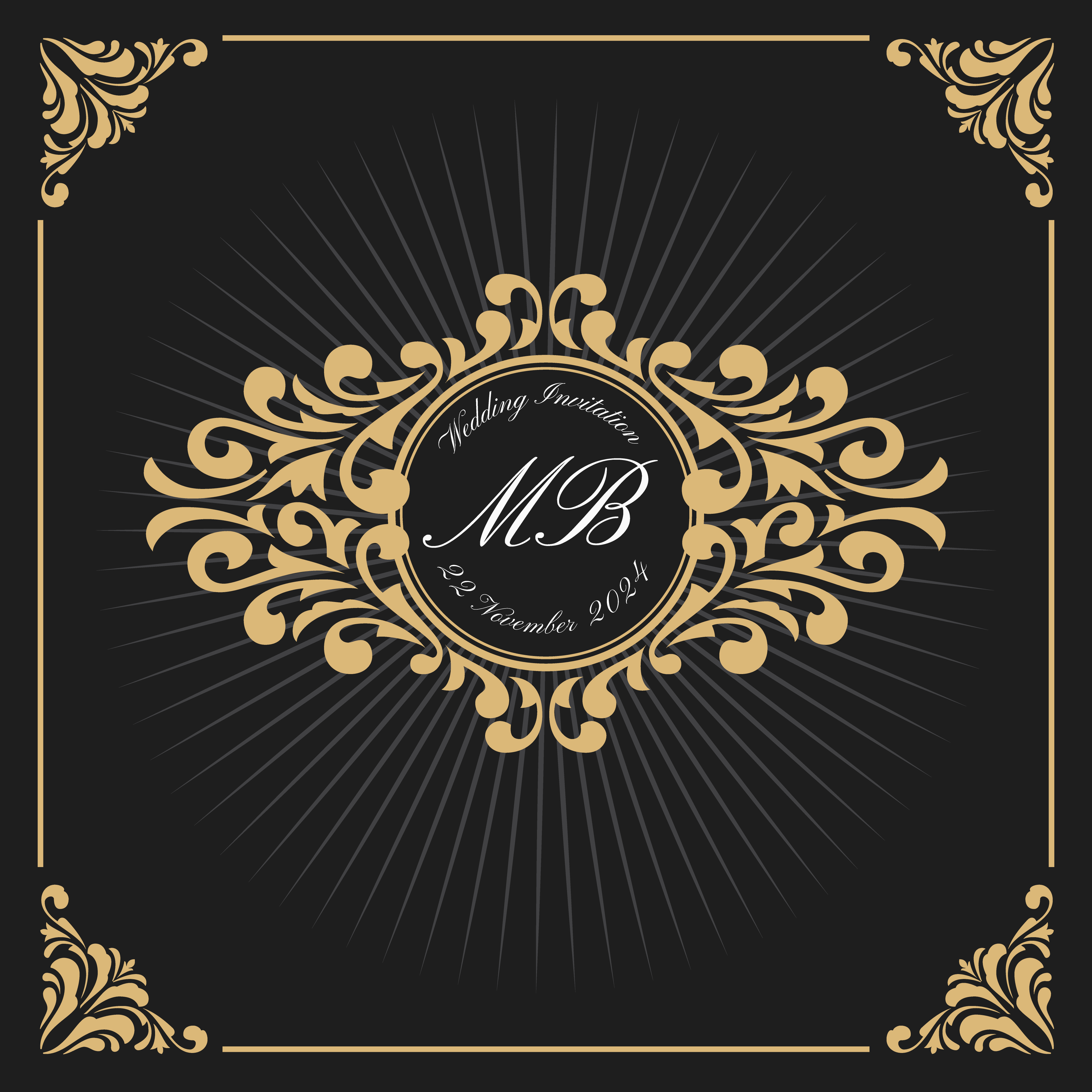 Vintage Luxury Monogram Logo Template - Download Free ...