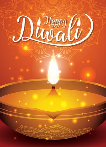 Diwali-festivalvlieger en afficheachtergrond
