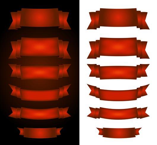 Rote Zirkusfahnen auf Schwarzweiss-Hintergrund vektor