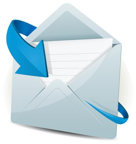 Email Icon With Blue Arrow