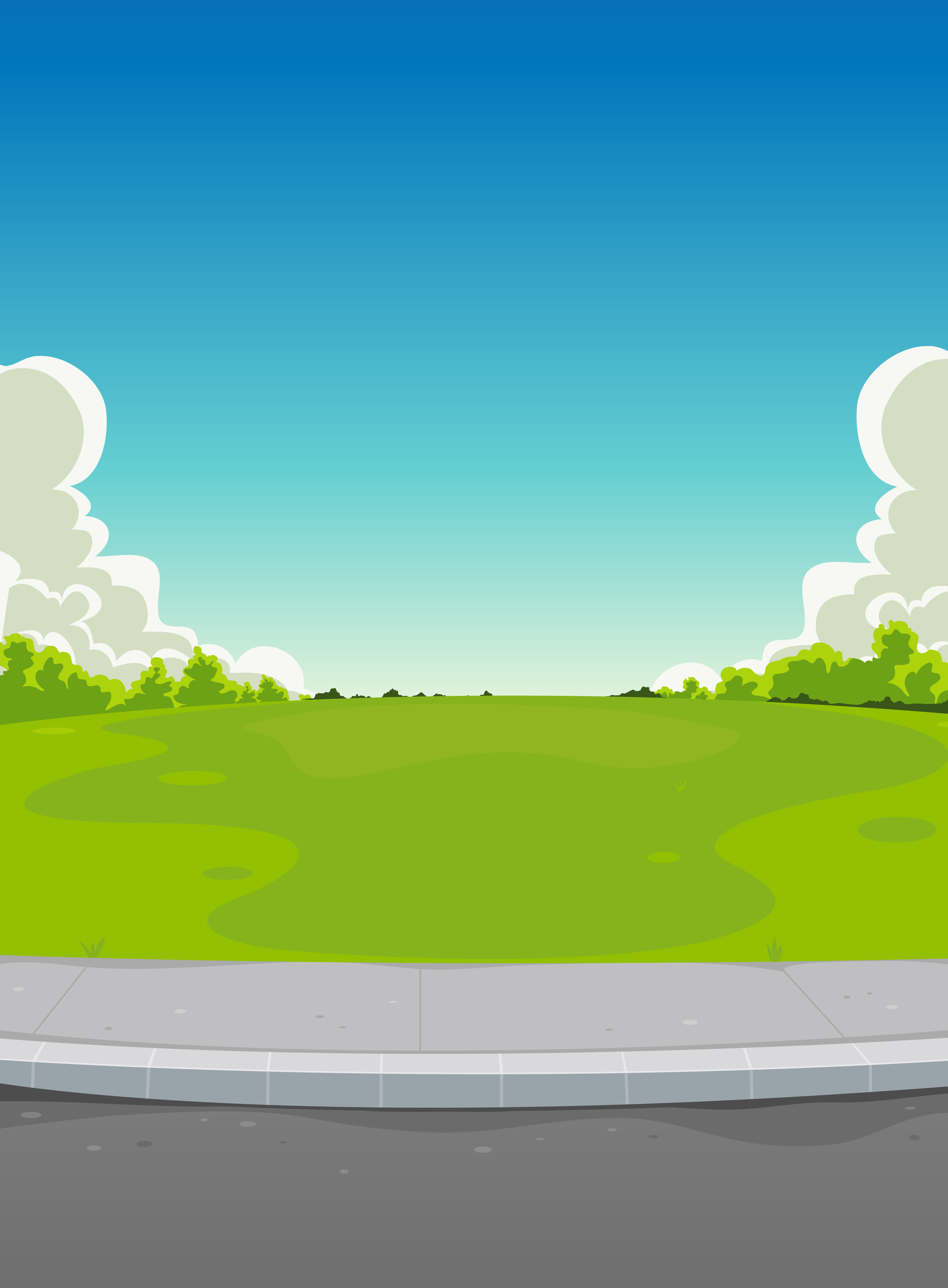 Pavement And Green Park Background Download Free Vectors