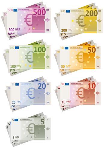 ensemble de billets en euros
