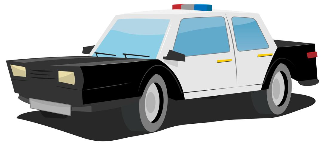 Tecknad polisbil
