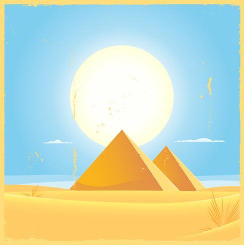 Giza pyramid kvadrerar affischen vektor