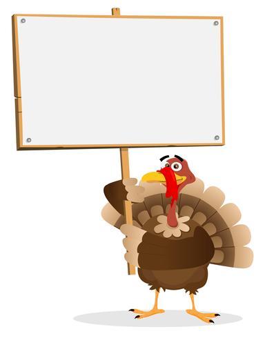 Signe de Thanksgiving Turquie vecteur