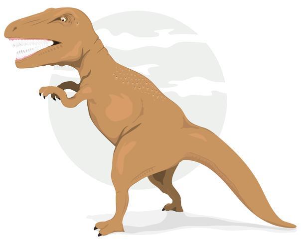 tiranosaurio rex dinosaurio vector