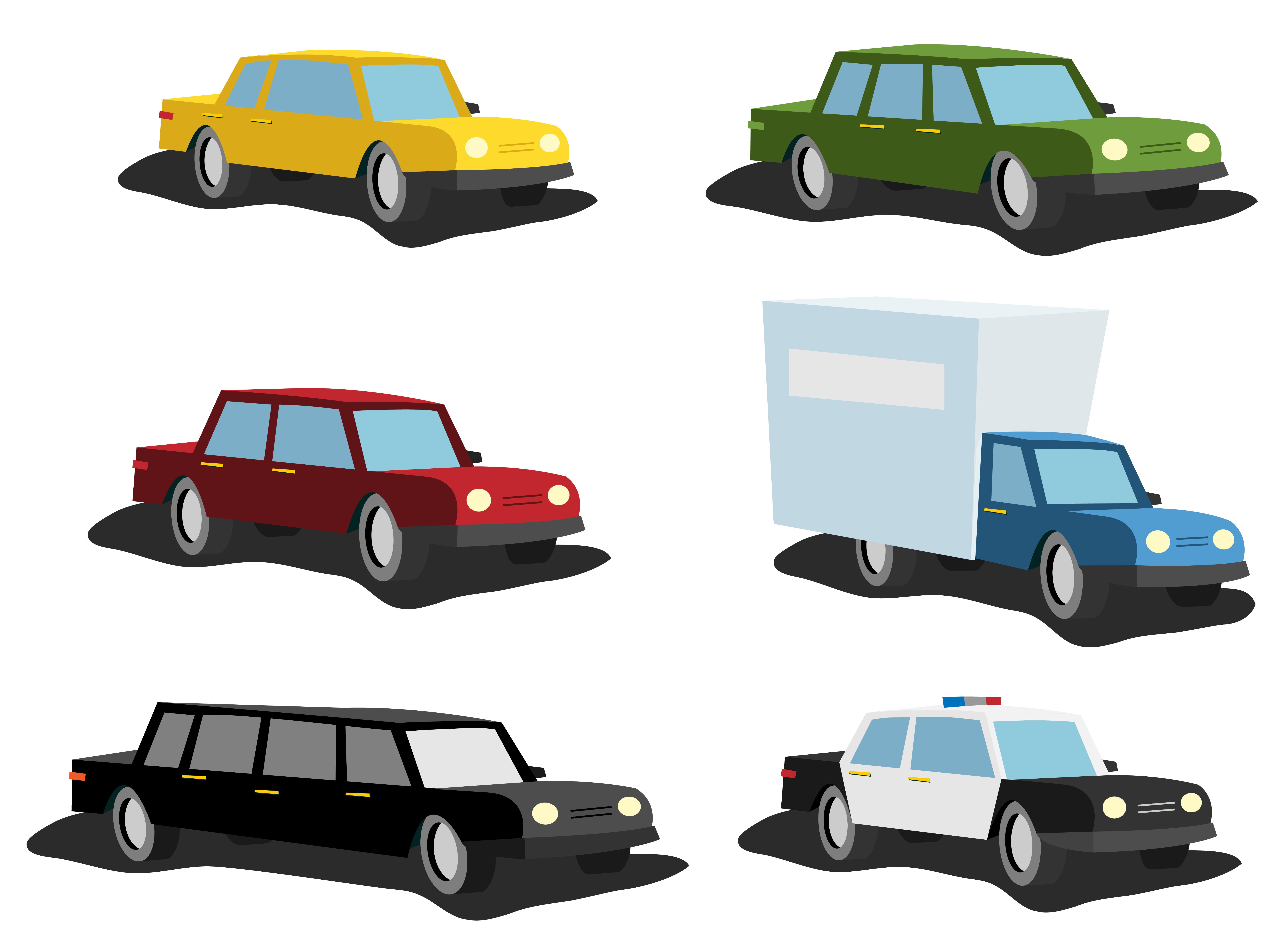 Cartoon Cars Set Download Free Vectors Clipart Graphics Vector Art