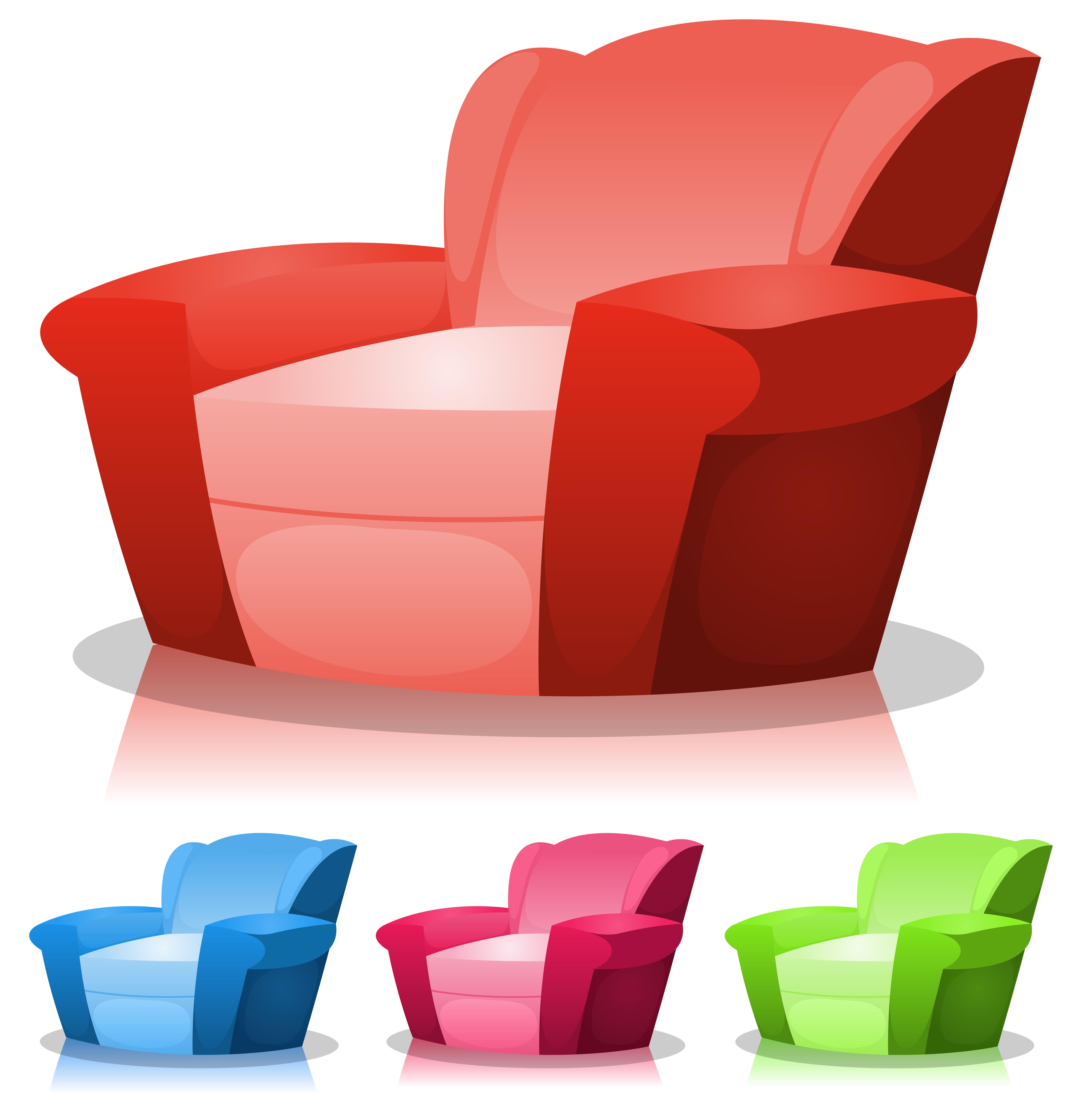 Cartoon Armchair Set Download Free Vectors Clipart
