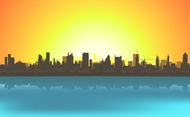 Summer Cityscape Background