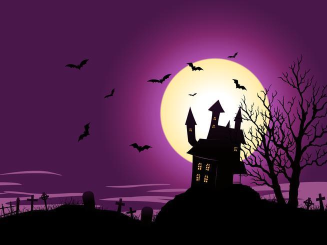Fundo de halloween dos desenhos animados