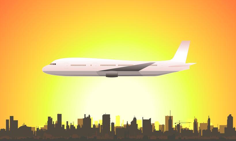 Sommer fliegendes Flugzeug