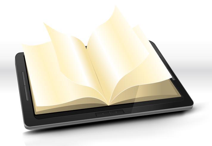 Abra o livro no Tablet PC