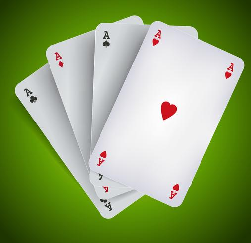 poker aces - jeu de casino vecteur