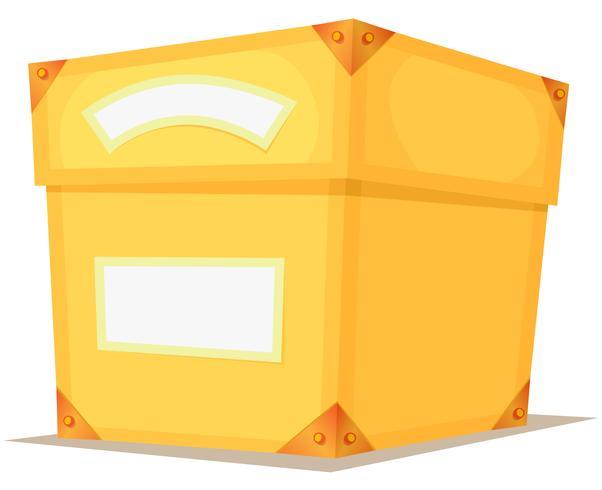 Cartoon Yellow Box vector