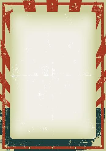 Fjärde av juli vintageaffisch