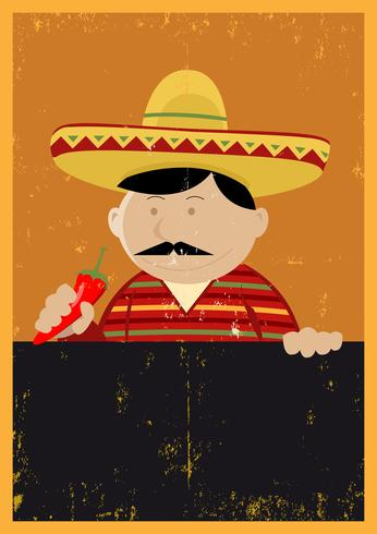 Menú del cocinero cocinero mexicano chef