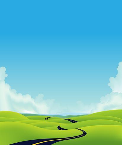 Diep Landweglandschap vector