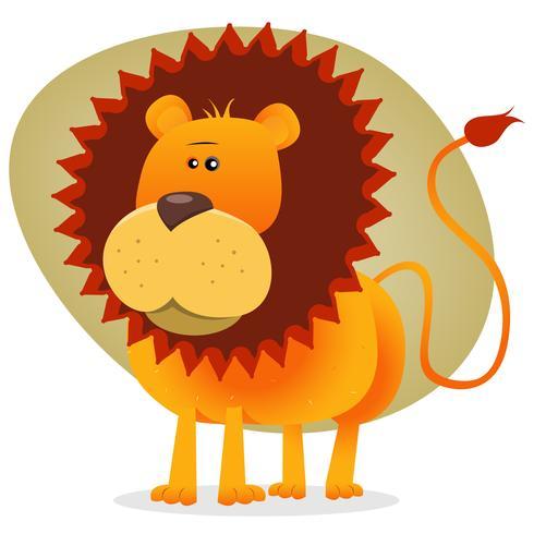 Gullig tecknad Lion King vektor