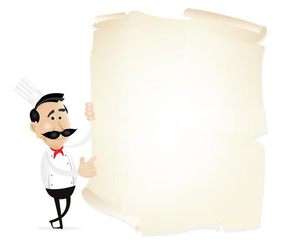 Menú de lista en un pergamino