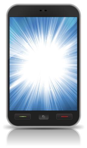 Fondo impresionante estrella ráfaga dentro de Smartphone