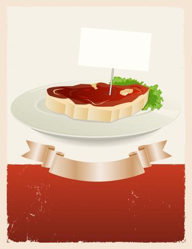 Banner de restaurante de carne vermelha vetor